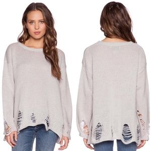 Wildfox Lennon Sweater in Gray